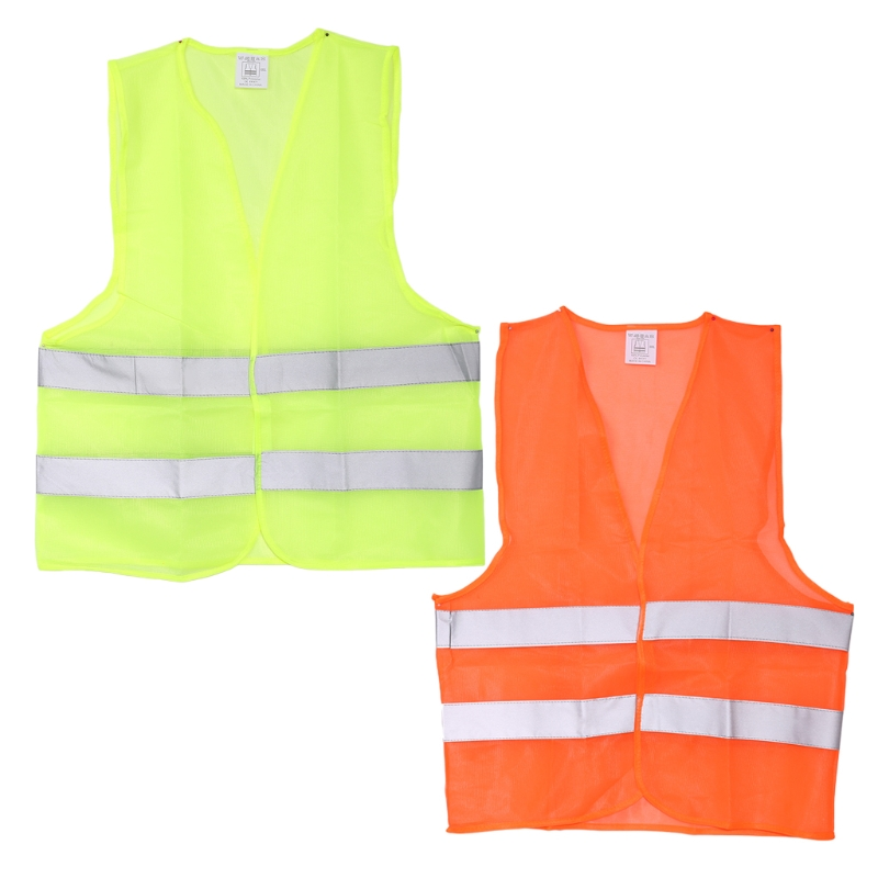 High Visibility Safety Reflective Stripes Jacket Outdoor Motorcycle Motorbike Reflective Clothing Warning Waistcoat