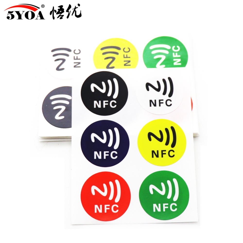 6pcs/lot NFC Tags Stickers NFC213 Label Rfid Tag Card Adhesive  Key Tags Llaveros Llavero Token Patrol