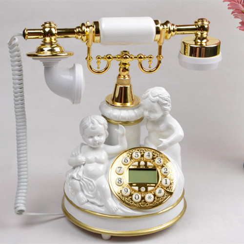 Ye are the top antique telephone European Garden retro home phone office phone caller ID Decoration home art rustic backlit