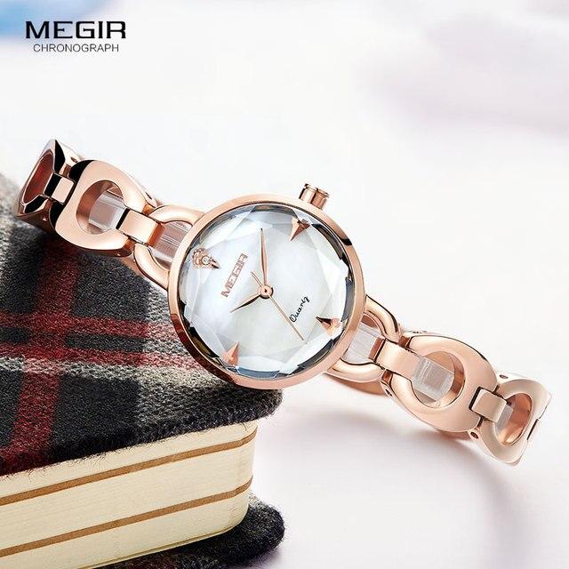 Relogio feminino Women Watches MEGIR Luxury Brand Girl Quartz Watch Casual Leather Ladies Dress Watches Women Clock Montre Femme
