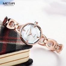 レロジオ feminino 女性腕時計 MEGIR 高級ブランドガールクォーツ時計レディースドレス腕時計女性時計 Montre ファム