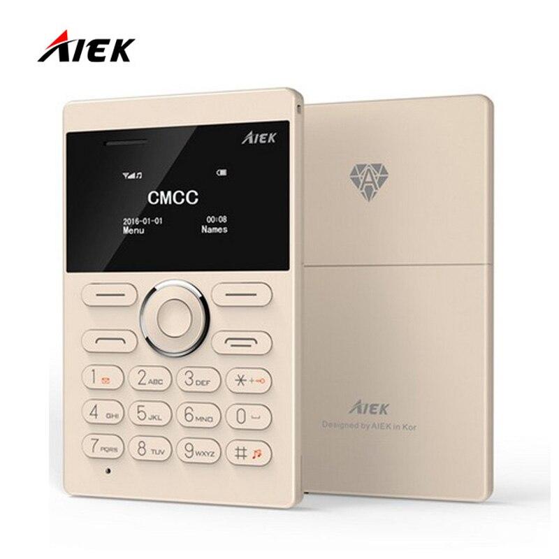 Nueva Ultra Delgado Teléfono AIEK Tarjeta E1 Teléfono Celular Teléfono Móvil GS