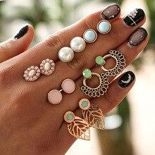 RAVINOUR Women Earrings Set 6Pair Retro Resin Flowe
