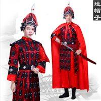 Ancient Chinese unisex armor costume general Helmet Warrior Armor Commander Corselet soldier costume