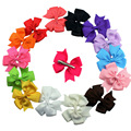 20pcs/lot Infant Girls Headband Head Wraps Elastic Bands Grosgrain Ribbon Bows Tiara Baby Headbands Hair Accessories