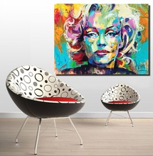 Marilyn Monroe Portrait Oil Painting Abstract Modern Wall on Canvas Art for Living Room Home Decor