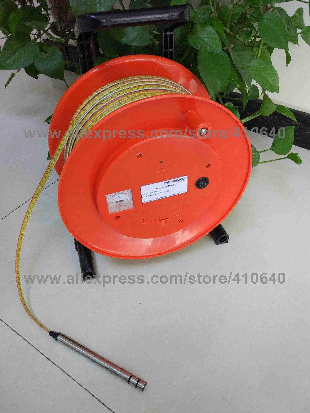 250 Meter Portable Steel Ruler Water Level Meter Well Water Depth Meter For Underground Water Level Monitoring