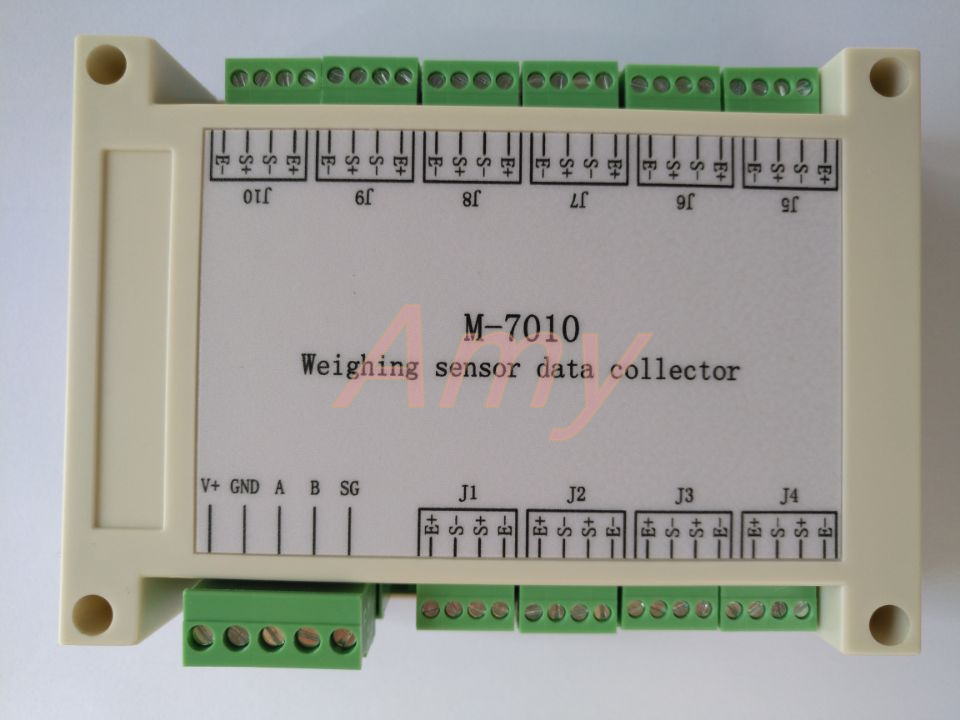 M-7010 10 way weighing sensor acquisition module based on RS485
