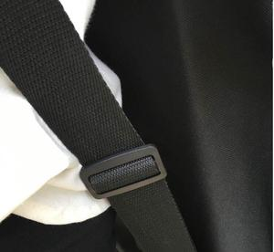 Image 2 - 長さ 110/120 センチロングボードスケートボードショルダーバックパック黒キャンバス運ぶ巾着