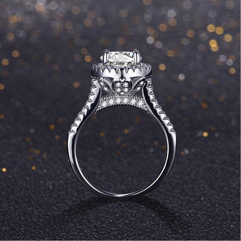 YANHUI Genuine 100% Solid 925 Sterling Silver Rings Cubic