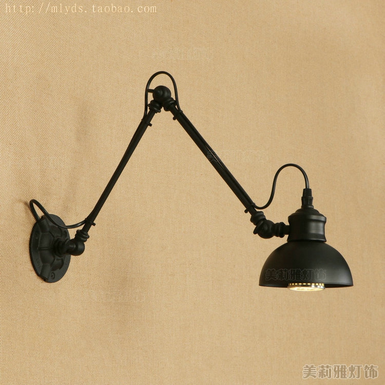 Loft Industrial adjustable long swing arm Wall lamp Fixture Vintage Edison bulb wandlamp lamparas de pared lights lampen sconceLoft Industrial adjustable long swing arm Wall lamp Fixture Vintage Edison bulb wandlamp lamparas de pared lights lampen sconce