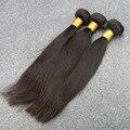 Grado 7A virgen del Indio cabello liso Barato pelo Indio sin procesar 3 bundles virgen del pelo Indio recto 100g lía DHL envío