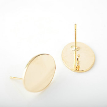 10PCS Oval 17.5x13MM 24K Gold Color Brass Stud Earrings High Quality Diy Accessories Jewelry Findings