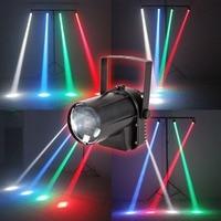 AOBO Lighting 3W Colorful RGB LED Pin Spot Stage Light Disco DJ Show Beam Effect Lighting