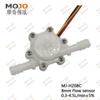 Aparatos e instrumentos médicos MJ-HZ08C/MJ-HW08C sensor de flujo de hall purificador de agua de turbina FDA 8mm