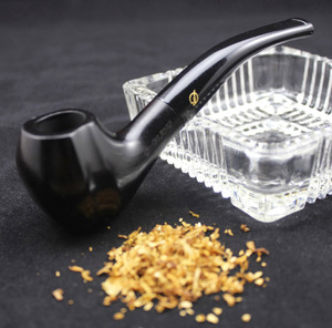Image 2 - 16 Tools Handmade Natural Ebony Wood Smoke Tobacco Smoking Pipe Black Wooden Pipe + Pouch + Holder + 10pcs 9mm Pipe Filters 433y