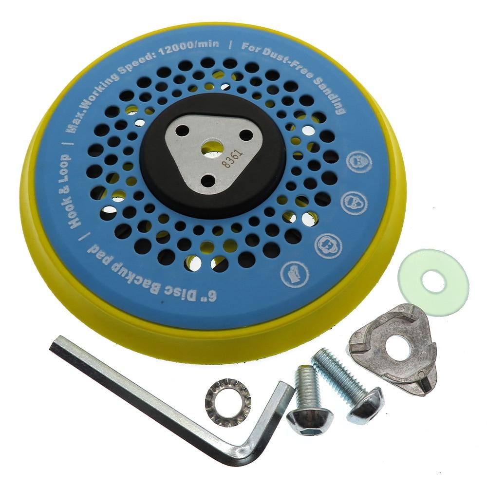 6 Inch 15-Hole  Multi-functional Sanding Pad Sander Backing Pad Dust Free  Hook And Loop Power Tools Accessories