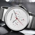 Часы GUANQIN мужские  деловые  повседневные  с сетчатым ремешком  кварцевые  из нержавеющей стали