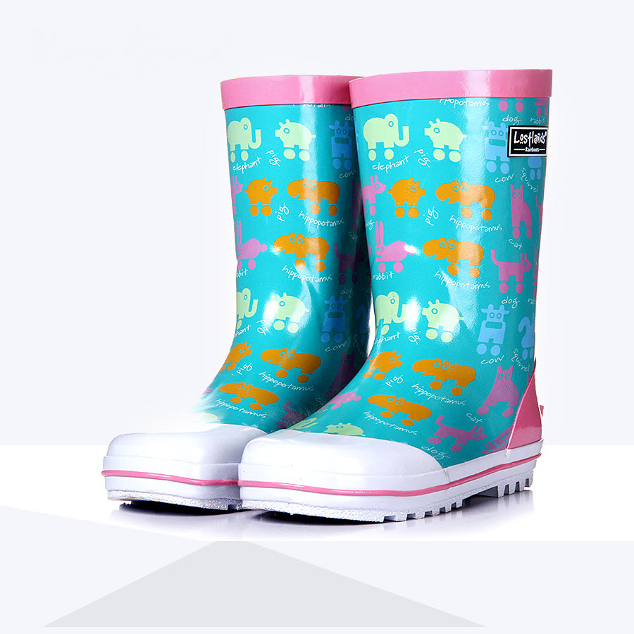 Kids boy Rainboots children shoes Loverly Animal print pig cat dog Rabbit Waterproof Overshoes Infant Baby Water Rubber Shoes майка print bar jack rabbit