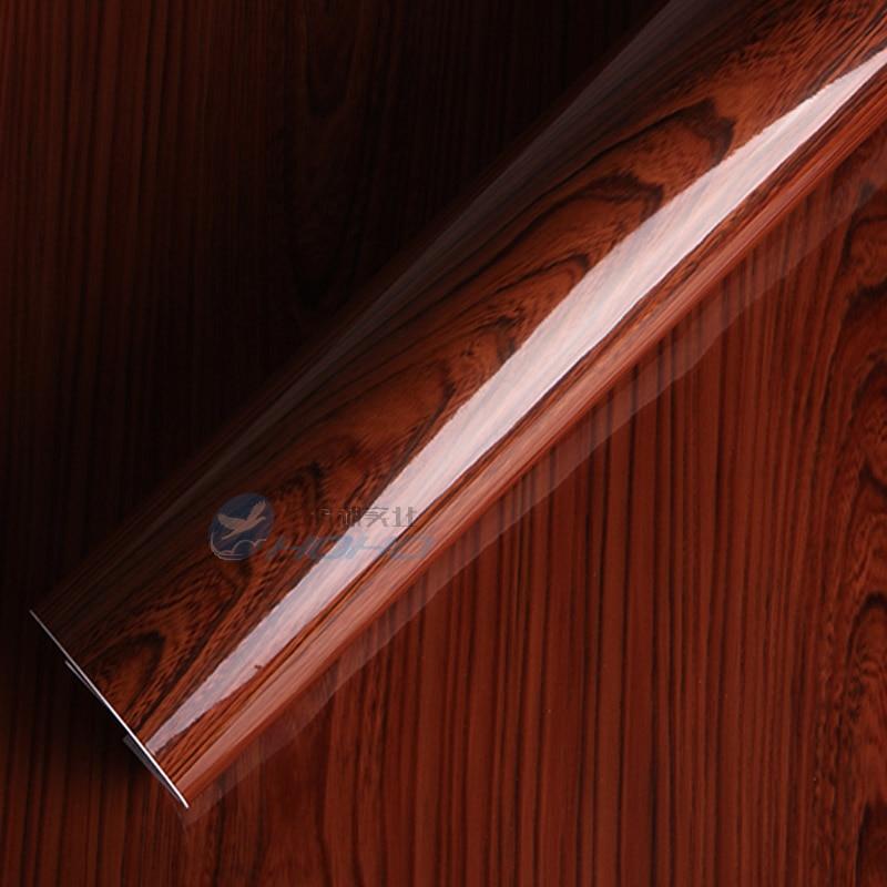 1 22X10M PVC Wallpaper Wood Grain Paper Furniture Stickers Wood Kitchen Cabinet font b Car b