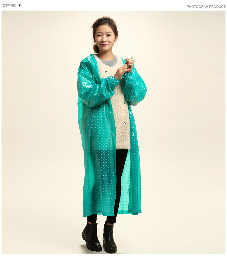 Aliexpress.com : Buy Polka Dot Transparent PVC Rainwear