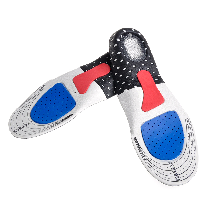 Hot ! Silicone Gel Insoles Foot Care For Plantar Fasciitis Heel Spur Running Sport Insoles Shock Absorption Pads For Men/Women