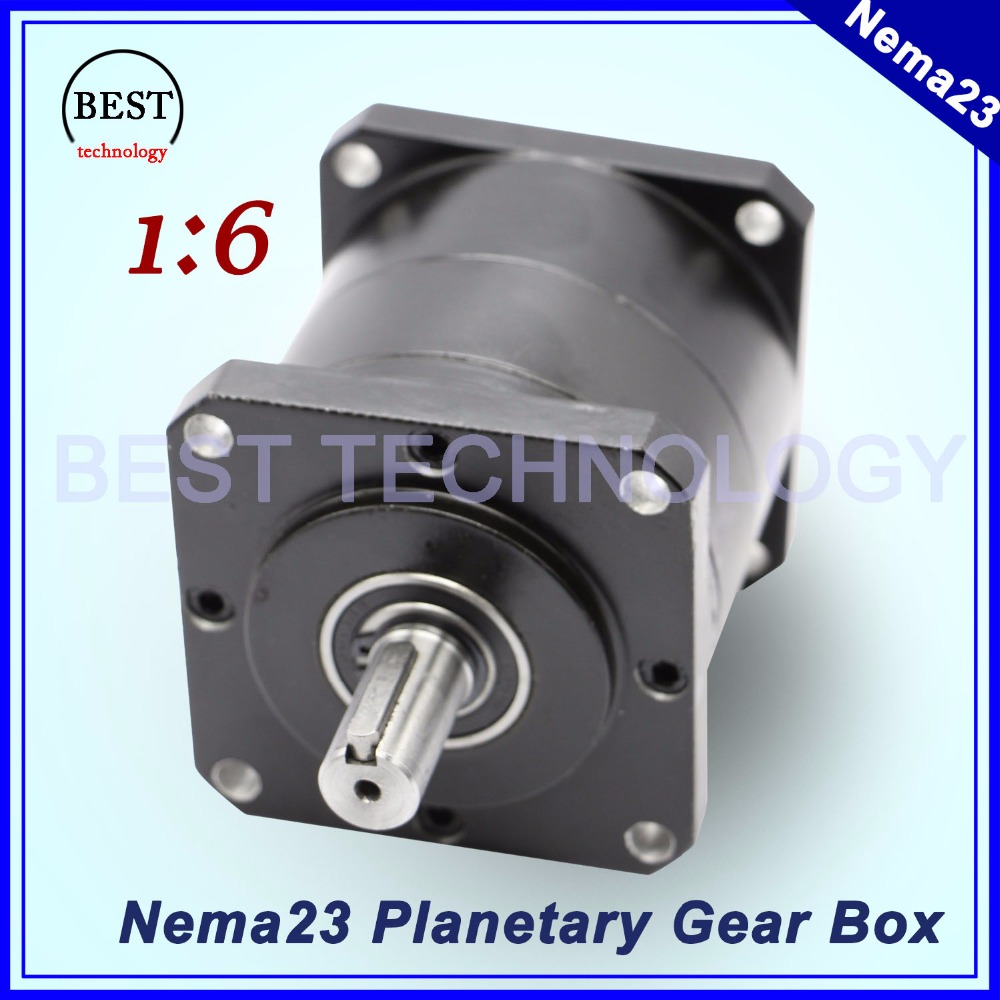 Nema23 Motor Planetenuntersetzung Verhältnis 1:6 planeten getriebe 57mm motor drehzahlregler planetengetriebe Hohe Drehmoment hohe qualität!!