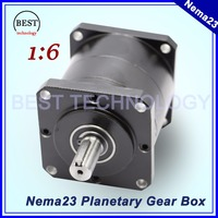 Nema23 Motor Planetary Reduction Ratio 1:6 planet gearbox 57mm motor speed reducer planetary gear High Torque high quality !!