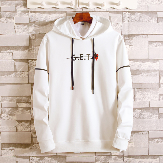 Men Hoodies Sweatshirt Casual Cotton solid color 2018 Winter Sweatshirt Print Letter Tops