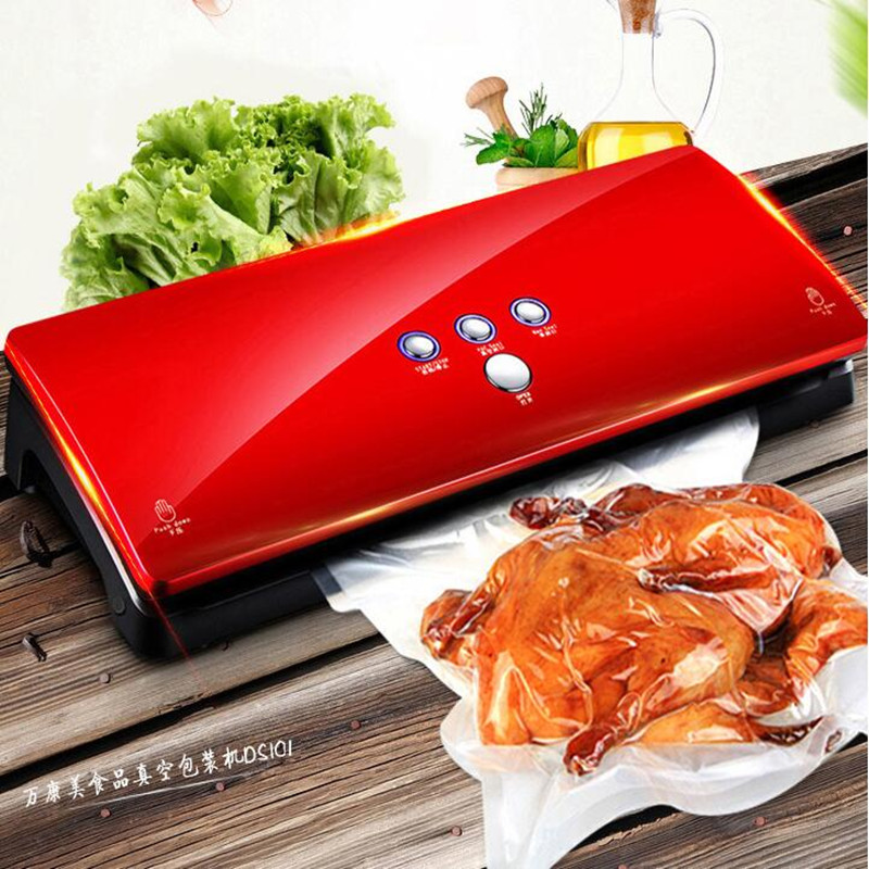 220V 220V Full-automatic Electric Vacuum Sealing Machine Dry And Wet Vacuum Packaging Machine Vacuum Food Sealers household vacuum packaging sealing machine sealer wet and dry use 30cm 110w 220v