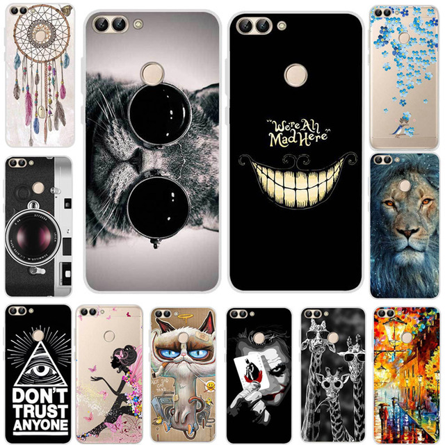 big sale 46d83 45e82 US $2.99 40% OFF|For Huawei P Smart Case Silicone Cool Animal Joker Cartoon  Soft TPU Cover Phone Case For Huawei P Smart FIG LX1 PSmart 5.65 2018-in ...