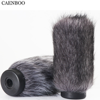 CAENBOO 16cm Outdoor Furry Fur Cover Windscreen Windshield Muff Microphone Deadcat Wind shields For RODE NTG4+ NTG 4+ Microphone
