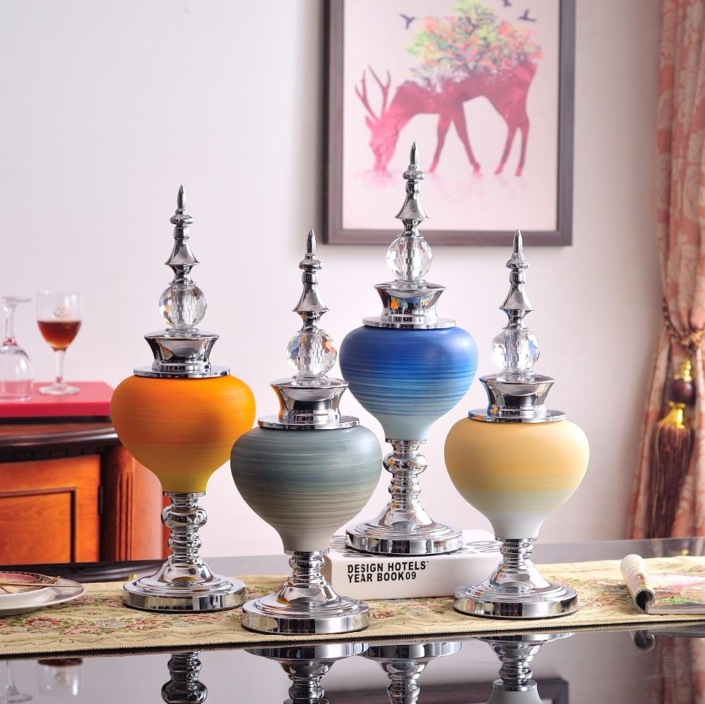 Modern Wedding Gifts: European Luxury Ceramic Crafts Creative Vase American