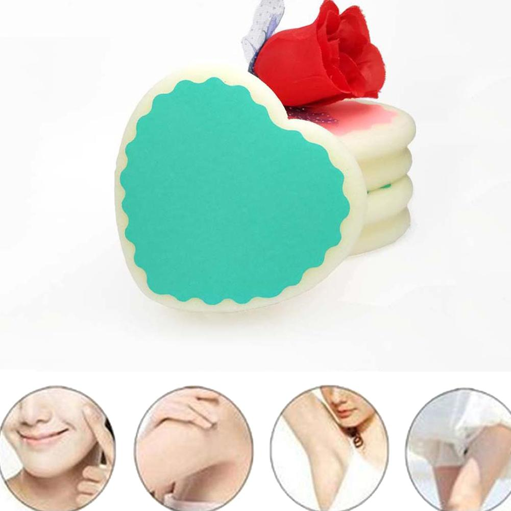 Beauty & Health Popular Heart-shaped Magic Painless Leg Arm Armpit Hair Removal Sponge Pad Depilator Skin Care Hair Remover Drop Shipping Modern And Elegant In Fashion Shaving & Hair Removal