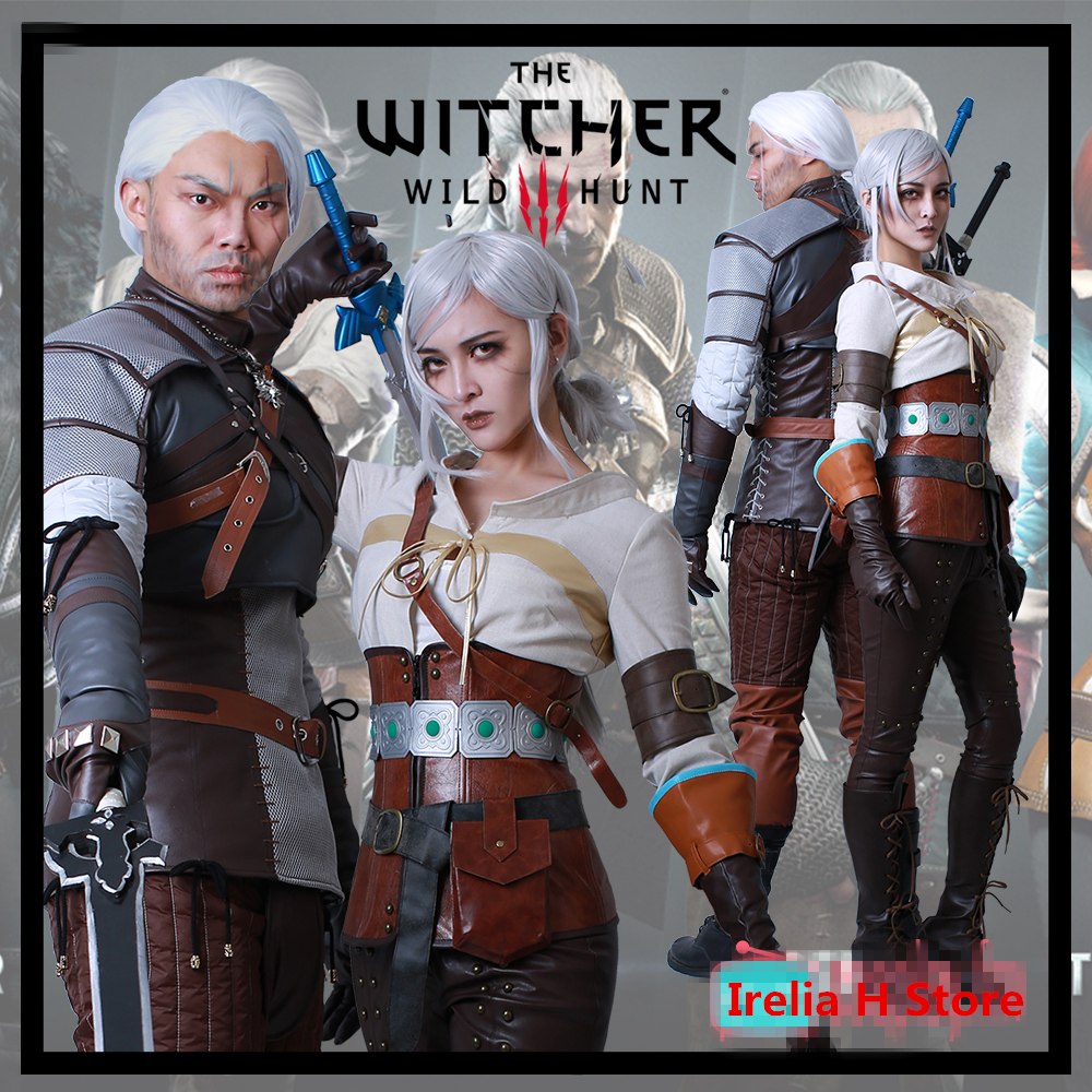 US $140 68 |Geralt ciri The Witcher 3: Wild Hunt Cosplay Geralt ciri  cosplay costume full set Halloween Costume Dress-in Anime Costumes from  Novelty &