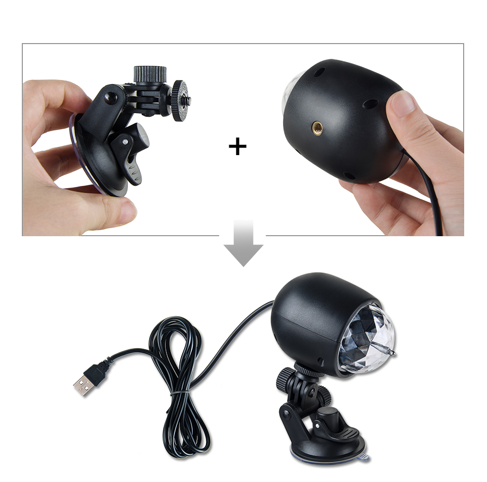 Car-mounted stage lights Adsorbable (4)
