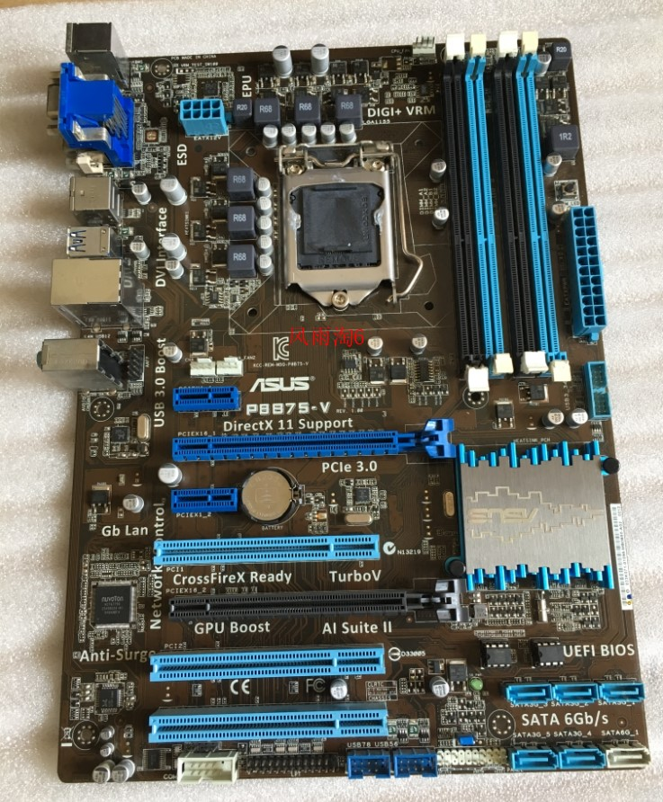 Used,Asus P8B75-V Original Used Desktop Motherboard Intel B75 Socket LGA 1155 i3 i5 i7 DDR3 32G SATA3 USB3.0 AT,100% tested good asus p8z77 m desktop motherboard z77 socket lga 1155 i3 i5 i7 ddr3 32g uatx uefi bios original used mainboard on sale