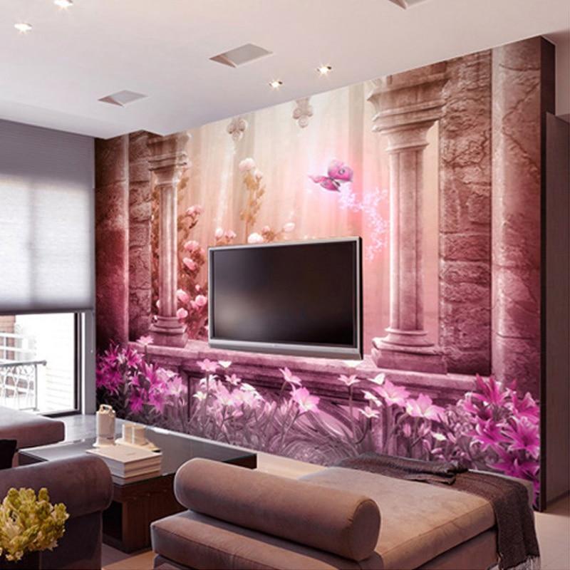 Custom Any Size 3D Photo Wallpaper Palace Roman Column Wall ...