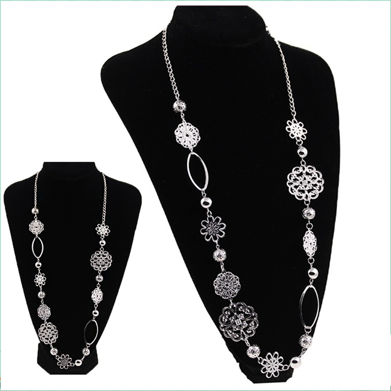 Kittenup 2016 new western style fashion luxury sweater statement kittenup 2016 new western style fashion luxury sweater statement long jewelry flower pendants necklace for women gifts hl0278 in pendant necklaces from aloadofball Image collections