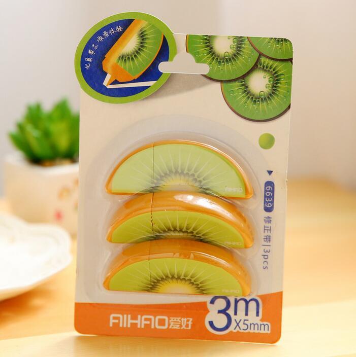 3pcs/set Fruit correction tape Mini correcting tapes corretts