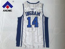 6b872fb52 Duke Blue Devils 14 Brandon Ingram White Blue Black Embroidery Stitched  College Basketball Jersey Size