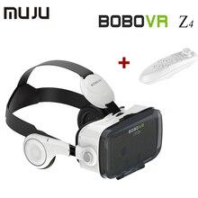 10ชิ้น/ล็อตร้อนbobo vr z4 4.0-6.0นิ้วแว่นตาเสมือนจริง+บลูทูธการควบคุมระยะไกลภาพยนตร์เกม3dสำหรับsamsung apple lgฯลฯ