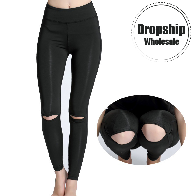 Black Classic Yoga Pants Women Fitness Trousers Outdoor