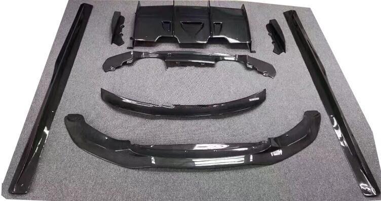 Углерода Волокно передняя губа СПОЙЛЕР + задний багажник диффузор + сторона тела комплект Обложка для BMW F80 M3 F82 M4 2014 2015 2016 2017 PSM
