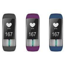 IP67 Водонепроницаемый умный браслет bluetooth 0.73 »OLED Сенсорный экран Смарт-браслет Приборы для измерения артериального давления сердечного ритма Мониторы повязки