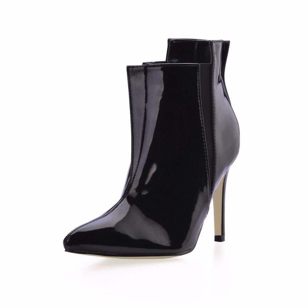 g1 Talons Hauts En 70887bt Pointu Bottines Verni mollet Sexy Chaussures Noir À 70887bt g Mode Femmes Bout Mi g2 Cuir Pour 70887bt qaEzPwv1