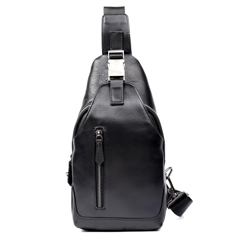 Adolescent Pour Pack Épaule Hommes De En Sac Taille Sacs Mode Antivol Cuir Bandoulière Véritable Poitrine Noir Messager 7Z7Uq