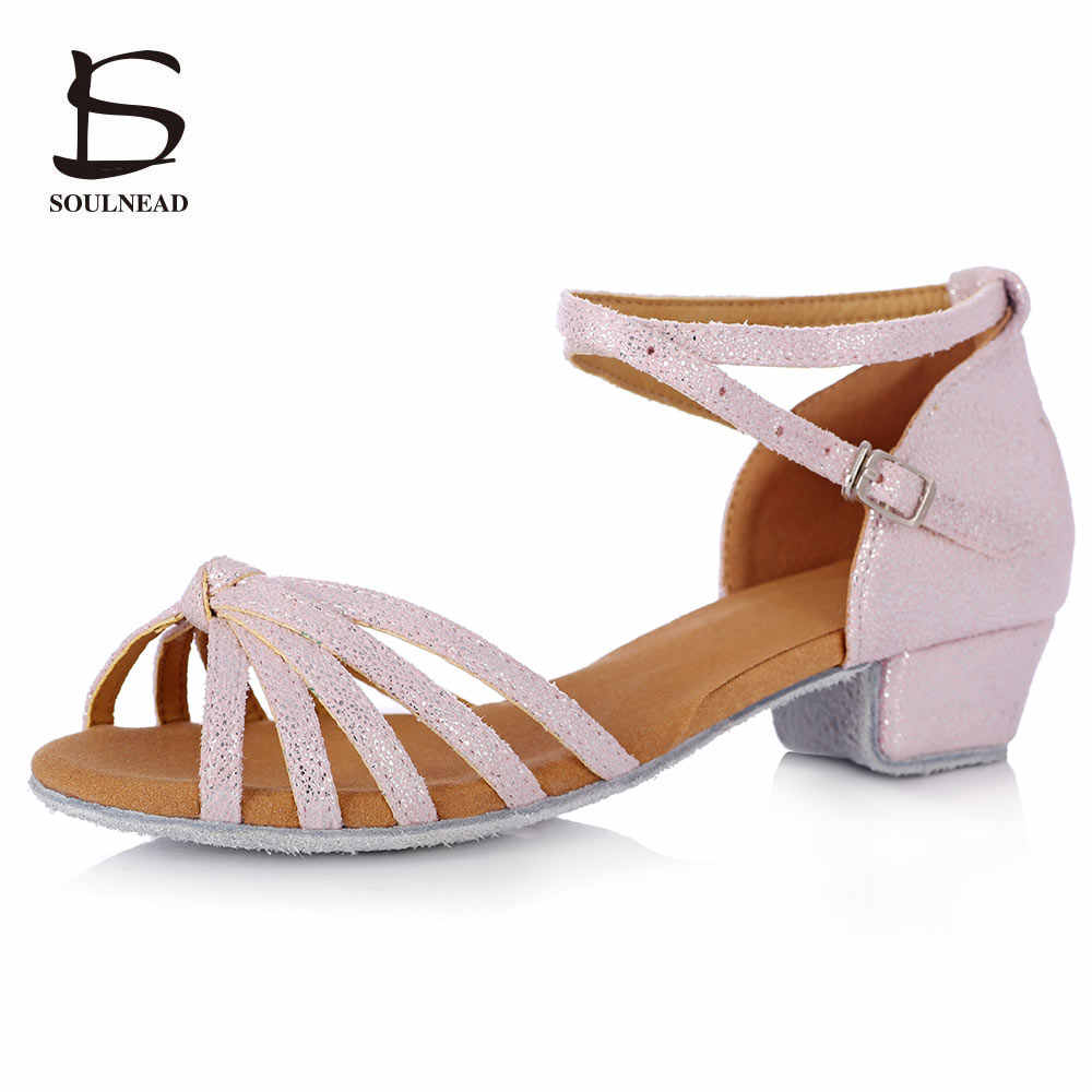 New Kids Girl's Latin Dance Shoes Pink
