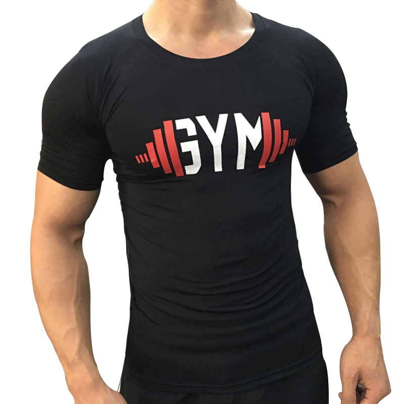 2018 New Brand clothing Gyms Tight t-shirt mens fitness t-shirt homme men Bodybuilding cross fit Summer top