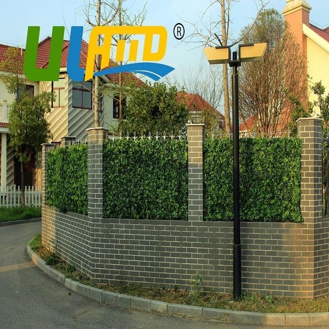 uland 1 metros cuadrados de plstico paneles de valla de jardn de plantas de hojas de - Valla De Jardin